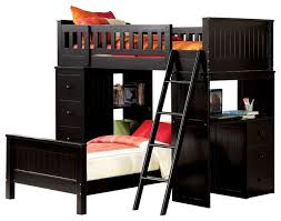 Bed And Computer Desk Combo Bedroom Stunning Bunk Bed Desk Combo Plans Wood Storage Shelf