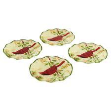 horderve plates set of 4 cardinal appetizer plates pfaltzgraff