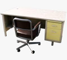 mcdowell craig vintage steel 78 inch single pedestal tanker desk