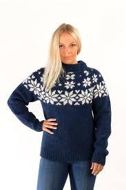 wool sweater fönn wool sweater blue álafoss since 1896