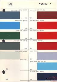 vespa paint chart color reference