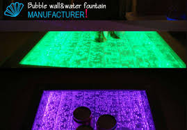 arylic water bubble table coffee table with led light