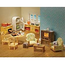 Sylvanian Families Kitchen And Living Room Collection Amazonco - Sylvanian families luxury living room set