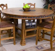 How Tall Is A Dining Room Table Sunny Designs Sedona Adjustable Height Round Table W Lazy Susan