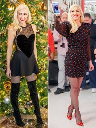 gwen stefani holiday album party dresses from promo tour people com