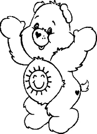 funshine bear happy care bear colouring happy