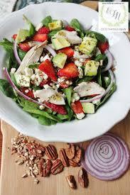 Salad Main Dish - old things new u2013 main dish chicken strawberry spinach salad