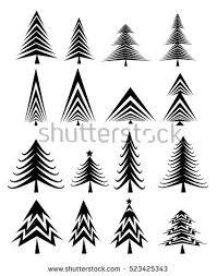 tree sets stock vector 523425343