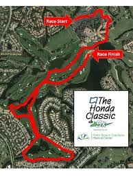 Race Map The Honda Classic Special Events The Honda Classic 5k Run Walk