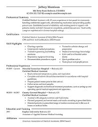 resume templates for medical assistants best medical assistant resume exle livecareer