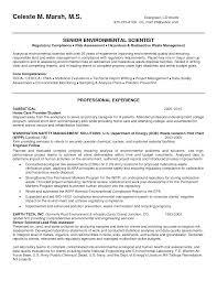 environmental scientist skills resume environment resume example