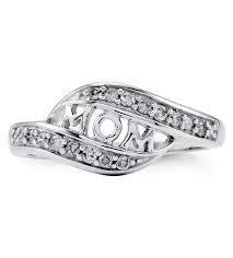 white gold mothers ring new 14k solid white gold diamond mothers split ring s