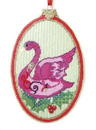 seven swans a swimming ornament by ruth schmuff