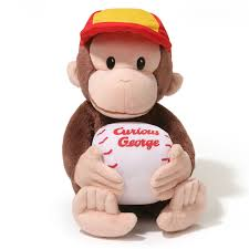 curious george baseball stuffed animal