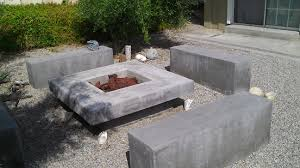 Outdoor Stone Firepits by Decorating Custom Firepits With Concrete Constructions Also