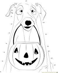 halloween ghost pumpkins dot to dot printable worksheet connect
