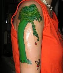 angle tattoos giving tree