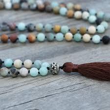 beaded tassel necklace images Egret jewellery uk boho gemstone green jade amazonite beaded jpg