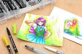 sakura koi coloring brush pen black 49 jetpens com