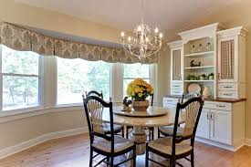 valance ideas in dining room farmhouse with bay window valance