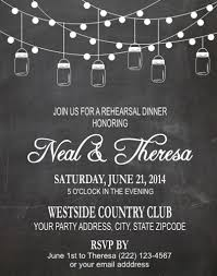 Mason Jar String Lights Rehearsal Dinner Invitation Mason Jar String Lights