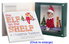 elf on the shelf christmas elf and book