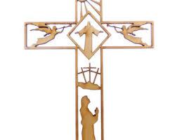 cross ornament etsy