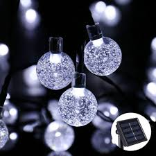 solar led light for globes solar ls 6m 30 led crystal ball string lights colorful warm white