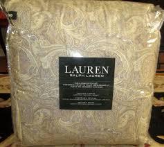 Ralph Lauren Comforter Queen Lauren Queen Comforter Set 4pc Tan Yellow Gray Paisley