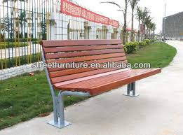 solid wood public seating bench chair public waiting bench chair