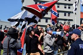 Black And White Rebel Flag Lee Circle March Faces White Supremacist Groups As New Orleans