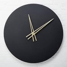 wall clocks ora black wall clock in clocks reviews cb2