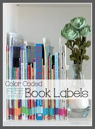 Books For Home Design Free Printable Color Coded Book Spine Labels For Home Library