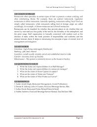 Resume For Career Change Food And Beverage Service I
