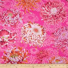 kaffe fassett collective floating mums magenta discount designer