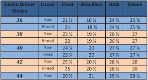 blouse size chart drover blouse christopheloiron