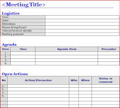 meeting minutes template word excel doc calendar template letter