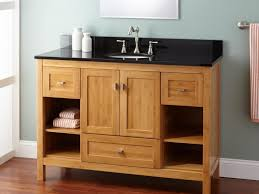bathroom wood bathroom vanity 45 open shelf vanity for