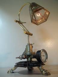 steampunk lamps made from recycled junk add glamour to your