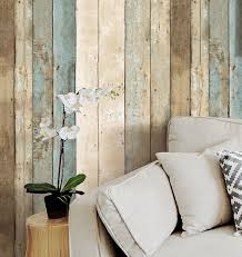 popular wallpaper roll buy cheap wallpaper roll lots from china haokhome vintage wood wallpaper rolls blue beige brown wooden plank panel mural home kitchen