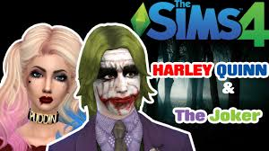 the joker and harley quinn halloween costumes the sims 4 cas harley and the joker youtube