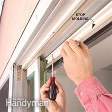 how to remove sliding glass door rollers how to repair a sliding door family handyman