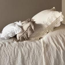 buy bella notte linens linen shams with crochet lace trim quick