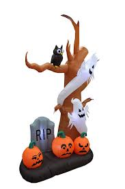amazon com 9 foot tall halloween inflatable tree with ghosts