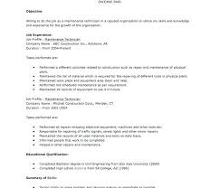 maintenance technician resume maintenance tech resume maintenance technician resume sle