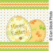 childish easter card template easter card template with eps