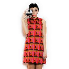 pattern a line shift dress lovewore vintage medium large m l 1960s mod a line shift dress w