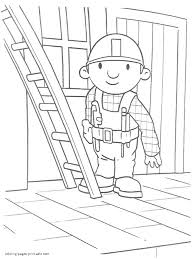 bob the builder cartoon coloring pages printable 4