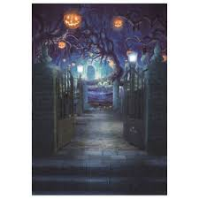 halloween backdrop ebay
