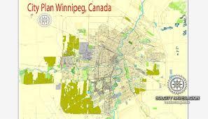 winnipeg map winnipeg printable city plan map of winnipeg canada adobe pdf